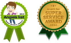 Angies List Super Service Award 2012 and 2014